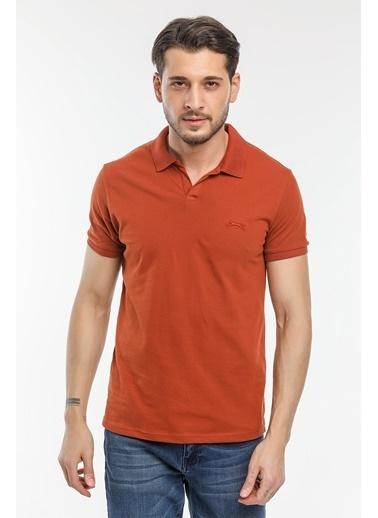 Slazenger Slazenger BASKET Erkek T-Shirt K. Kiremit